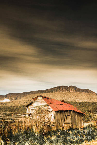 Damaged Photograph - Regional Ranch Ruins by Jorgo Photography - Wall Art Gallery