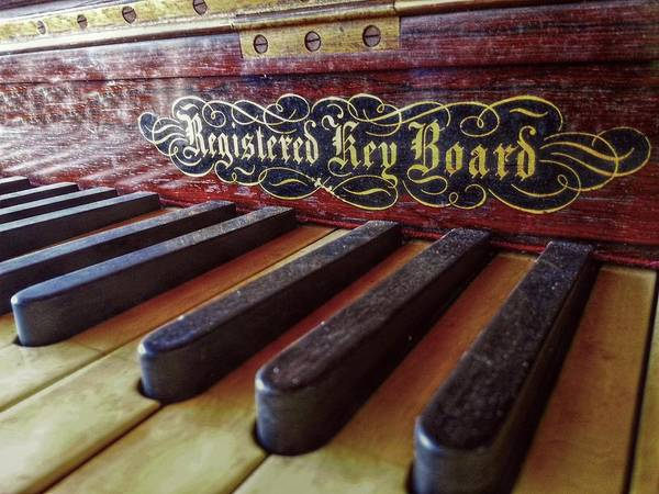 Player Piano Photograph - Registered Key Board by Linda Unger