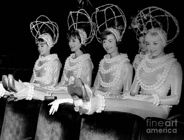 Rockettes Photograph - Rehearsal For The Radio City Rockettes Holiday Show. 1965 by Barney Stein