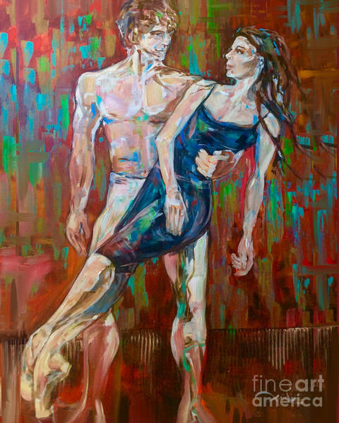 Painting - Rehearsal Glance by Lisa Owen-Lynch