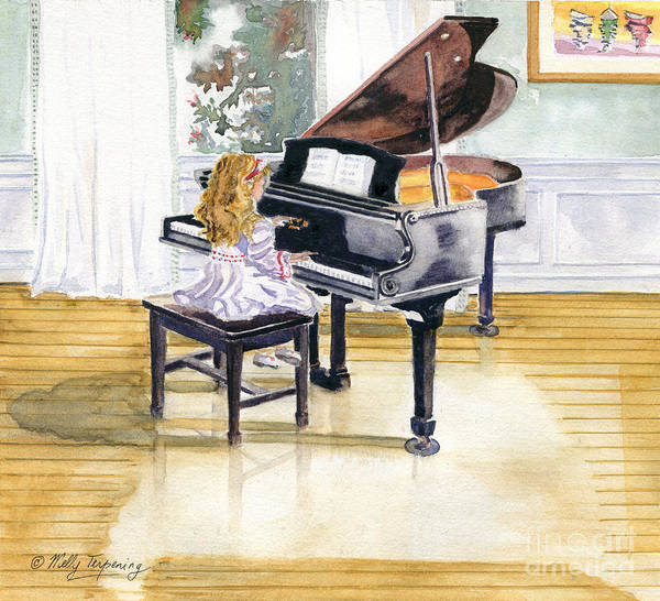 Grand Piano Painting - Rehearsal by Melly Terpening