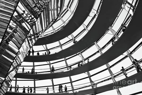 Wall Art - Photograph - Reichstag Dome In Berlin by Delphimages Photo Creations