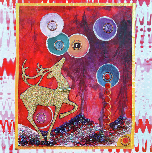 Wall Art - Painting - Reindeer Games by Donna Blackhall