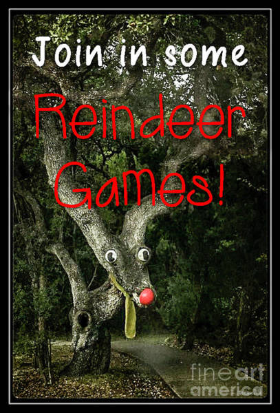 Photograph - Reindeer Games by Teresa Wilson