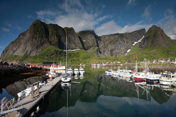 Photograph - Reinebringen From Reine Port by Aivar Mikko