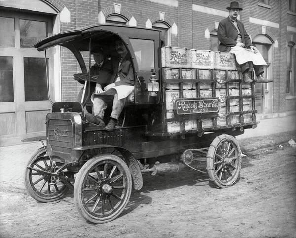 Wall Art - Photograph - Reisch Brew Company Chain-driven Truck  1906 by Daniel Hagerman