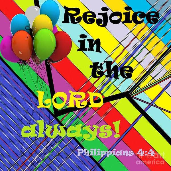 Clarity Painting - Rejoice In The Lord Always by Eloise Schneider Mote