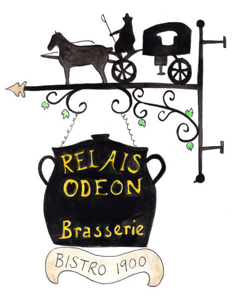Painting - Relais Odeon Brasserie by Anna Elkins