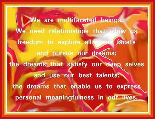Digital Art - Relationship Quote On Full Squazzle Art by Julia Woodman