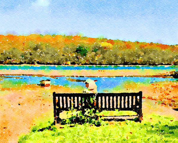 Painting - Relax Down By The River by Angela Treat Lyon