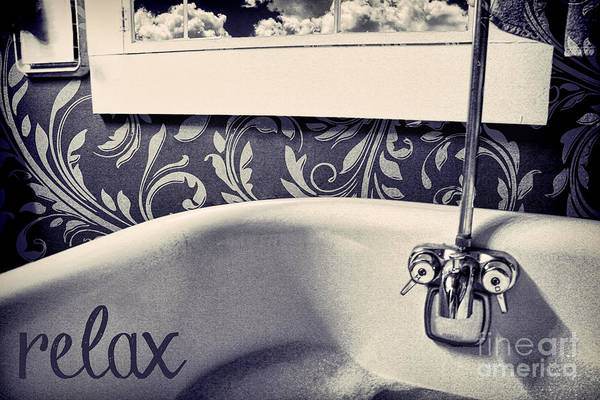 Bath Photograph - Relax In Blue by Mindy Sommers
