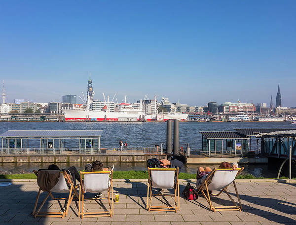 Relax On The Elbe Art Print