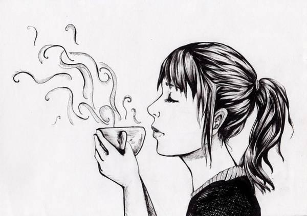 Coffee Drawing - Relax  by Vickimai