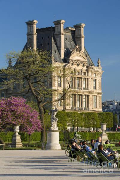 Jardin Des Tuileries Photograph - Relaxing In The Garden by Brian Jannsen