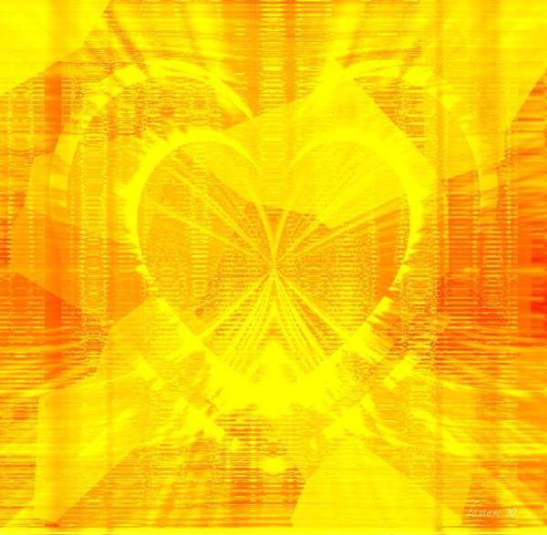 Respect Digital Art - Released Heart by Fania Simon