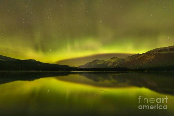 Photograph - Relfections Of The Aurora Borealis by Adam Jewell