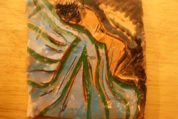 Ceramic Art - Relieved - Tile by Gloria Ssali