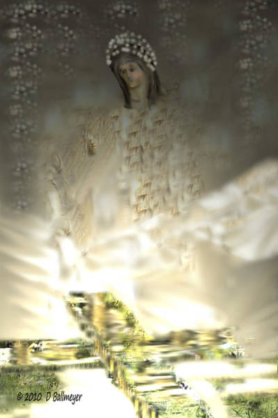 Holy Ghost Drawing - Religious Experience by Deborah