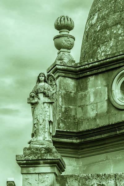 Photograph - Religious Sculpture, A Woman With A Cross by Jacek Wojnarowski