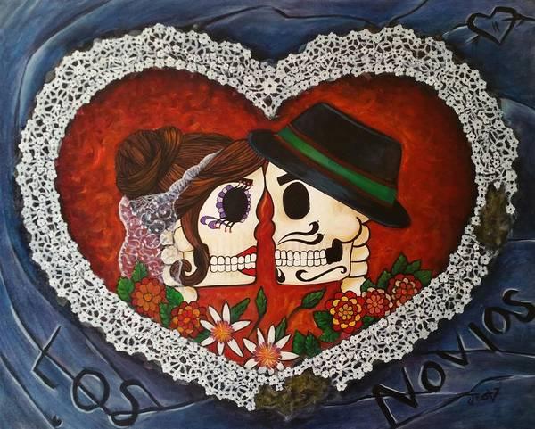 Doily Painting - Remastered Novios by Jessica  Venzor