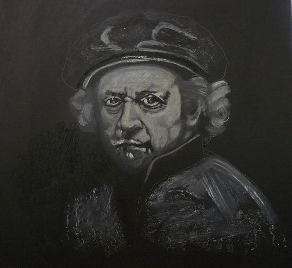 Painting - Rembrandt Black And White by Richard Le Page