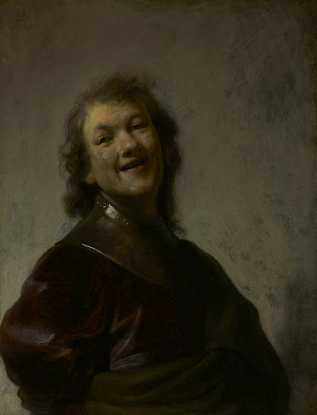 Painting - Rembrandt Laughing by Rembrandt