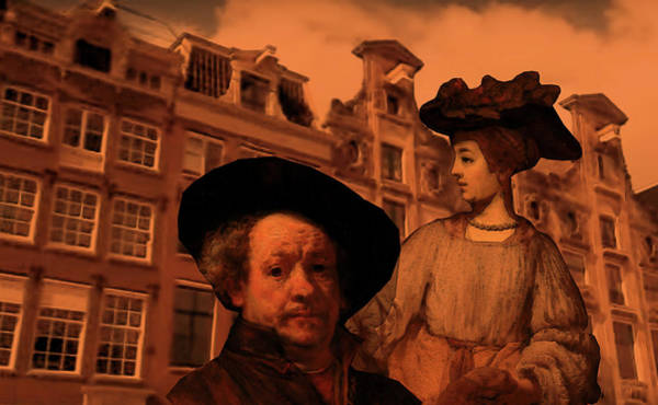 Digital Art - Rembrandt Study In Orange by Tristan Armstrong