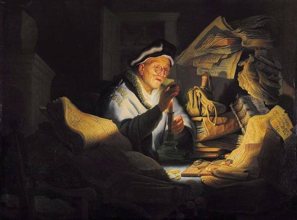 Wall Art - Painting - Rembrandt - The Parable Of The Rich Fool by Rembrandt