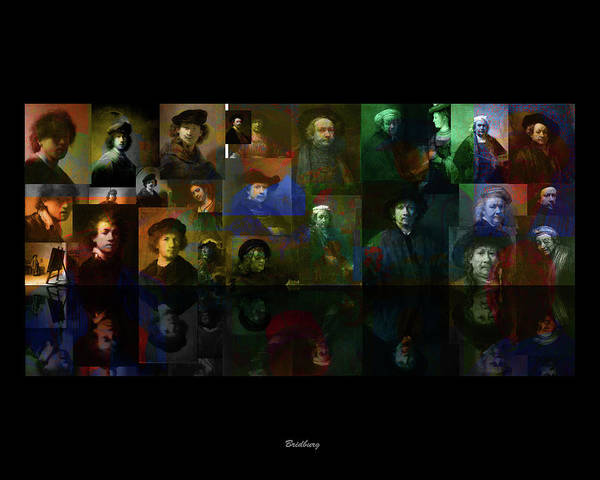 Digital Art - Rembrandt And Colors By Van Gogh by David Bridburg