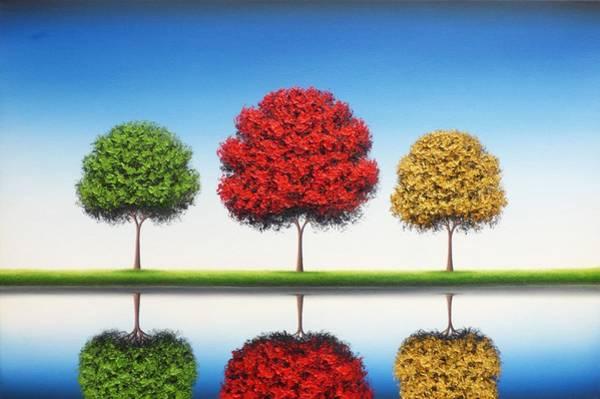 Wall Art - Painting - Remember Blue Skies by Rachel Bingaman