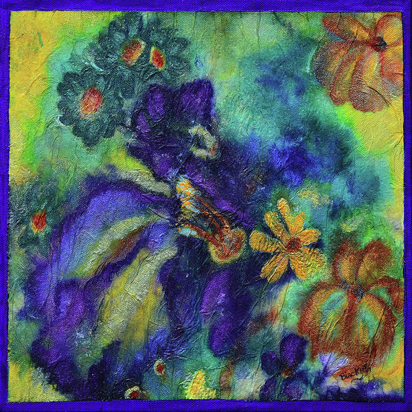 Purple Iris Mixed Media - Remember The Flowers by Donna Blackhall