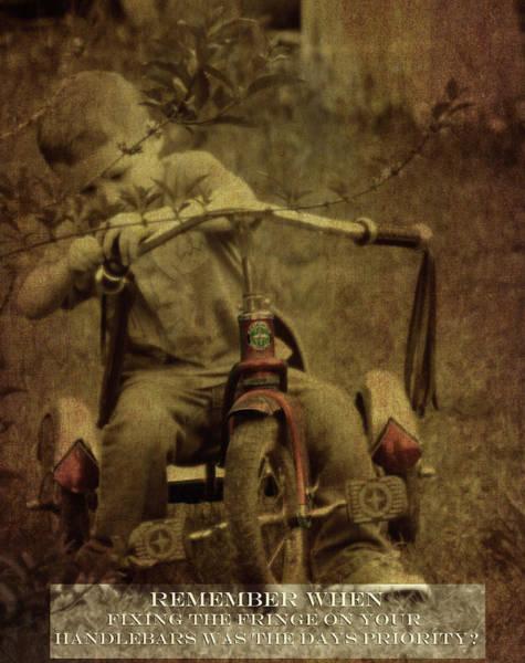 Photograph - Remember When Trike Tassels 2 by Lesa Fine
