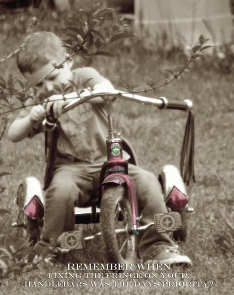 Mixed Media - Remember When Trike Tassels by Lesa Fine