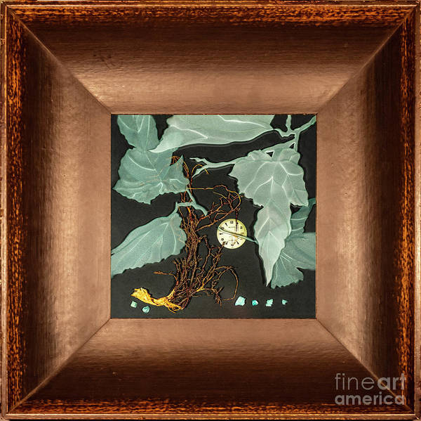 Glass Art - Remembrance Iv With Frame by Alone Larsen