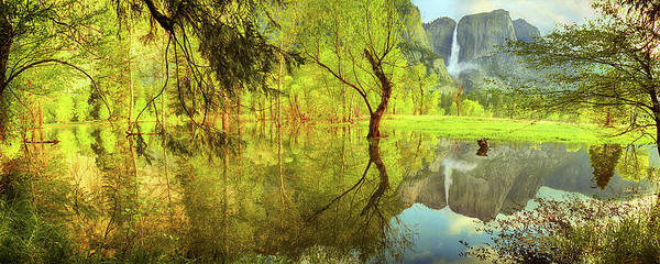 Wall Art - Photograph - Remembered Landscape Panorama, Yosemite National Park, California by Don Schimmel