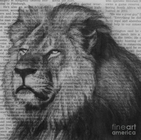 Drawing - Remembering Cecil by Michael Cross