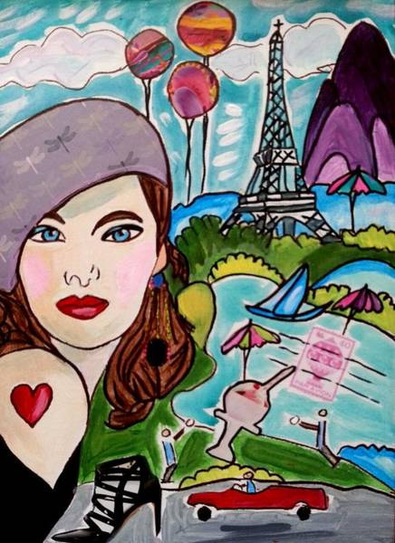 Painting - Remembering Paris by Nikki Dalton