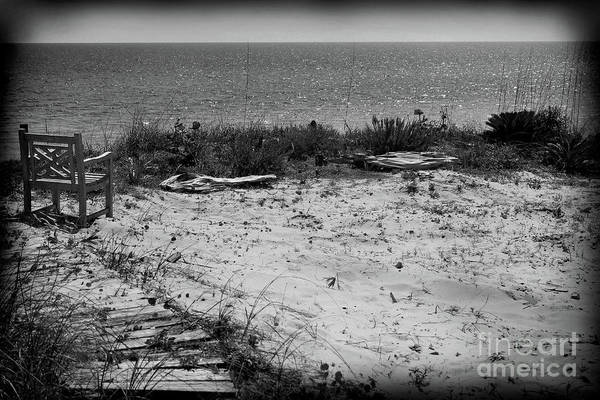 Photograph - Remembering Yesterday Black And White by Karen Adams