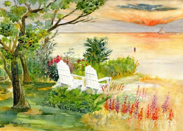 Adirondack Chair Wall Art - Painting - Reminiscence by Melly Terpening