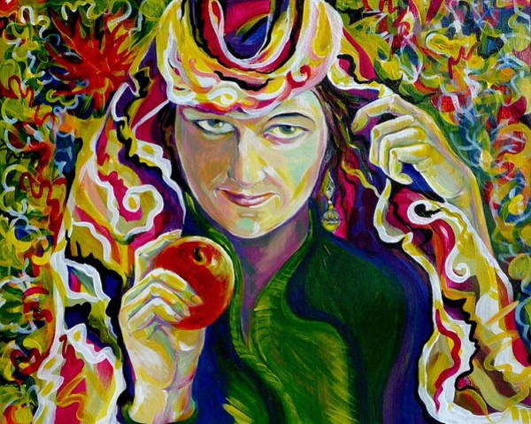 Selfportrait Painting - Reminiscences Of Asia. Autumn by Anna  Duyunova