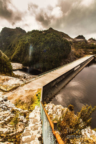 Dam Wall Art - Photograph - Remote River Crossing by Jorgo Photography - Wall Art Gallery