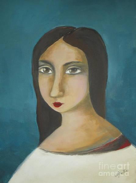 Selfportrait Painting - Renaissance Girl by Vesna Antic