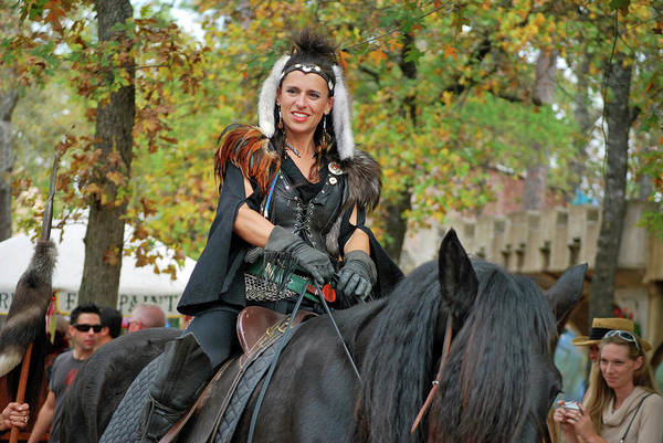 Photograph - Renaissance Rider by Teresa Blanton