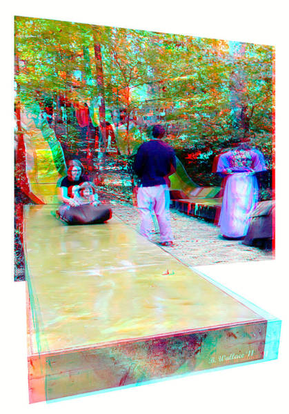 Anaglyph Photograph - Renaissance Slide - Use Red-cyan 3d Glasses by Brian Wallace