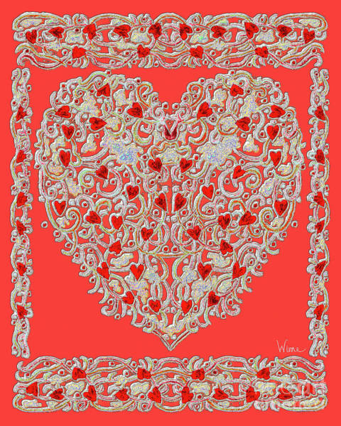 Digital Art - Renaissance Style Heart by Lise Winne