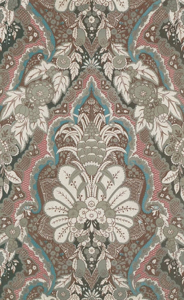 Floral Design Drawing - Renaissance Textile Pattern by English School