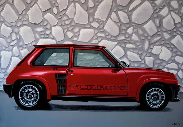 Wall Art - Painting - Renault 5 Turbo 2 1980 Painting by Paul Meijering