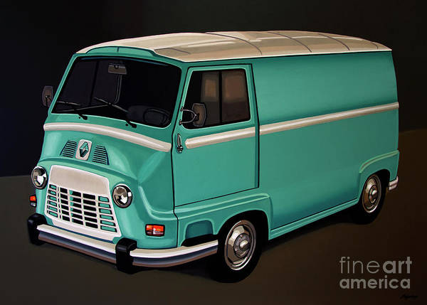 Oldtimer Wall Art - Painting - Renault Estafette 1959 Painting by Paul Meijering