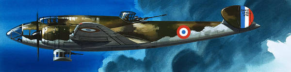 Wall Art - Painting - French Aircraft Of World War II  French Bomber by Wilf Hardy