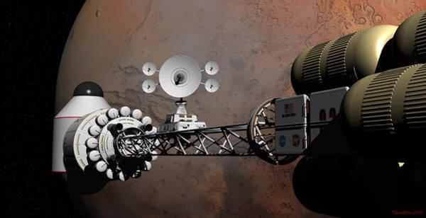 Rendezvous At Mars Art Print